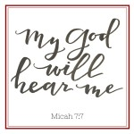 Your God Will Hear You  {No Matter What Monday}
