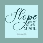 Hope Does Not Put Us to Shame  {No Matter What Monday}