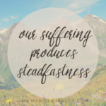 God Uses Our Suffering to Produce Steadfastness  {No Matter What Monday}