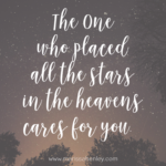 The Creator Cares for You  {No Matter What Monday}