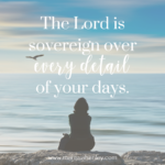The Lord is Sovereign Over Every Detail  {No Matter What Monday}