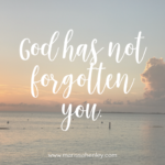 God has Not Forgotten You  {No Matter What Monday}